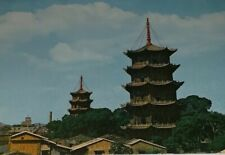 The West And East Pagodas In Chuanchow Vintage Unposted Post Card