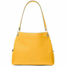 Michael Kors Raven Sunflower Yellow Gold Hobo Soft Bag Handbag Leather Zip NEW