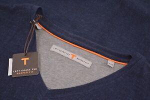 NWT Left Coast Tee Shaped Fit Size XXL 2XL Blue Navy V Neck T-Shirt Brand New