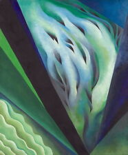 Georgia O'Keeffe Blue and Green Music Canvas Print Paintings Poster Reproduction