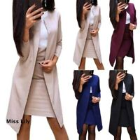 Women Bodycon Dress High Waist Blazer Coat Set Slim Outfit Formal Party Cocktail