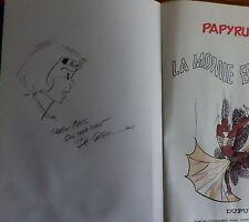E.O. 1978 Papyrus la momie engloutie avec superbe dédicace de Degieter
