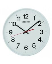 Seiko Qxa701h pendule murale Quiet Sweep - Blanc avec des chiffres arabes