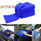 6PCS Blue Absorbent Wash Cloth Car Auto Care Microfiber Cleaning Towels 30*70CM