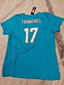 New Womens NFL Majestic Miami Dolphins Ryan Tannehill #17 Aqua T-Shirt