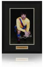 "TOMMY SMITH hand signed 12x8"" SWANSEA Photograph Framed AFTAL Photo Proof COA"