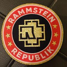 rammstein Republic  woven patch Very Rare !golden edge!