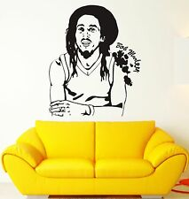 Wall Sticker Bob Marley Reggae Music Weed Rastafarian Vinyl Decal (ig1202)