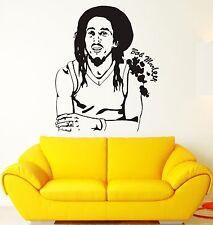 Wall Sticker Bob Marley Reggae Music Weed Rastafarian Vinyl Decal (ig1202)