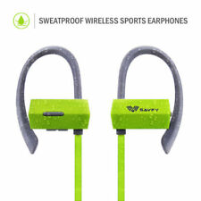 Écouteurs verts microphone sports