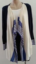 Cotton Blend Medium Knit Striped Jumpers & Cardigans for Women