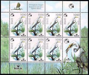 2008.Belarus. Bird of the Year. Great white heron.Sheet. MNH