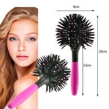 3D Hair Brush Bomb Curl Brush Styling Salon Round Hair Curler Comb Tool UK+++