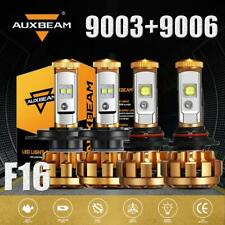 AUXBEAM 50W H4 9003+ 9006 Combo LED Headlights Bulbs High-Low Beam HID 6000K F16