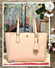 NWT TORY BURCH ROBINSON SMALL Tote Shoulder Handbag In SHELL PINK Leather
