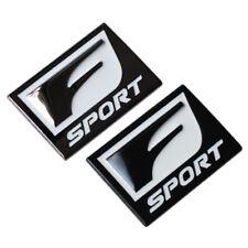 2x F-Sport 3D Metal Emblem Side Fender Badge For Lexus IS250 350 GS35 450 Black