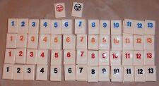 Travel Rummikub spare number tile choose colour/number - logo on back