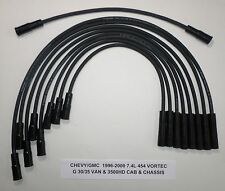 CHEVY/GMC 1996-2000 7.4L 454 G30/35 Van, 3500 Cab/Chassis BLACK Spark Plug Wires