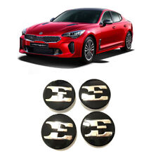 "Genuine OEM Wheel Center Caps 18"" E Logo Emblem 4pcs (Fits: KIA 2018+ Stinger)"