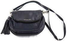 7f5b8f3d22b5 MICHAEL KORS Weston Navy Blue Leather Foldover Zip Crossbody Hand Bag TASSEL