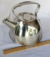 All-Clad Metalcrafters Stainless Steel 2 quart Tea kettle Pot Whistling USA Nice