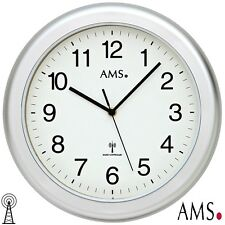 AMS 44 Radio Reloj De Pared Baño Resistente Al Agua color plateado ø 30cm