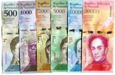 VENEZUELA BANKNOTES 2016 2017  UNC FULL SET OF 6, 500 1000 2000 20000 BOLIVARES