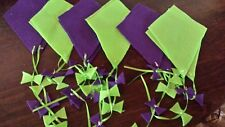 Flannel Game/Bulletin Board Kites--Green/Purple