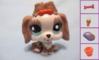 Littlest Pet Shop Dog Maltese Lhasa  2130 w Free Accessory Authentic Exclusive
