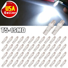 50x White T5 1-SMD LED Instrument Panel Cluster Dash Light Bulbs 73 74 2721 12V