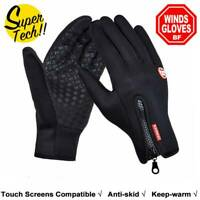 Cycling Touch Screen Gloves waterproof Outdoor Jogging Skiing Hiking Running YK