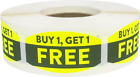 Buy 1 Get 1 Free Retail Stickers, 0.75 x 1.375 Inches, 500 Labels on a Roll