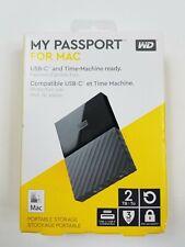 WD My Passport 2TB for Mac Portable Hard Drive USB-C/USB-A (WDBLPG0020BBK-WESE)