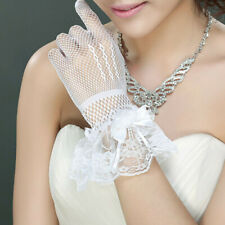 Costume Full Finger Wedding Party Floral Mesh Princess Gloves Silk Mittens