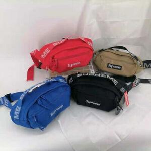 Brand New Supreme Red black blue khaki Waist Bag Shoulder Bag Fanny Pack Unisex