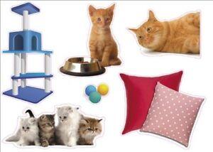 """Kitten Cat Artwork Kids Living Room Decor Wall Sticker Decal 15""""W X 23""""H"""
