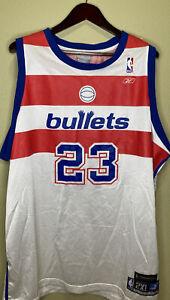 MICHAEL JORDAN #23 WASHINGTON BULLETS REEBOK HC NBA  ADULT JERSEY 2XL