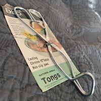 """New NIP EKCO USA grabber tongs.  8"""" long Metal Angled"""