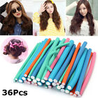 36PCS Curl DIY Hair Curlers Tool Styling Rollers Spiral Circle Magic Roller SP
