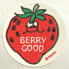 Vintage 80s Matte Trend Scratch & Sniff Sticker - Strawberry - Mint!!