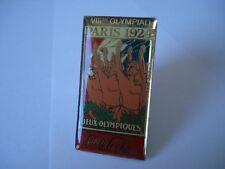 PARIS 1924 Olympics Coca Cola Pin Badge