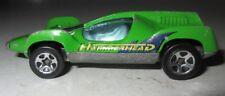 Vintage 1983 Hot Wheels Hammerhead Green Sports Race Car Used Toy Shark Preloved