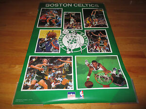 1988 Starline Boston Celtics Poster LARRY BIRD KEVIN McHALE ROBERT PARISH DJ