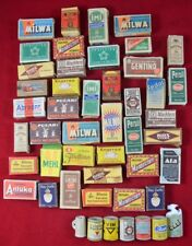VINTAGE ANTIQUE GERMAN DOLLHOUSE Detergent Food Boxes Cans BIG LOT of 48 pcs SET