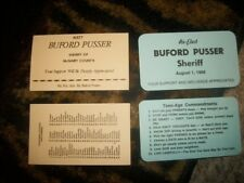Sheriff Buford Pusser election card from 2 different elections (4) total