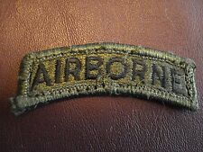 US ARMY Airborne Tab Patch,Green & Black