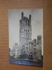 Postcard Ely Cathedral West Tower Real photo posted 1937 XC3
