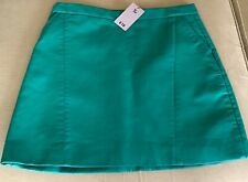 TU green faux leather skirt size 14 NWT