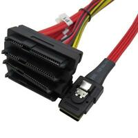 Mini SAS 36 Pin SFF-8087 to (4) SFF-8482 with 4 Power HDD Cable SAS Cable 100cm