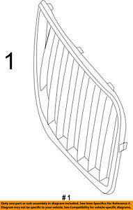 Lincoln FORD OEM 11-15 MKX-Grille Grill Right BA1Z8200A